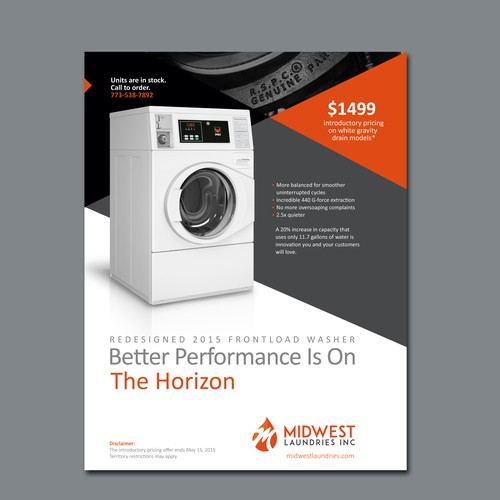 Full Page Print Ad For Commercial Laundry Equipment