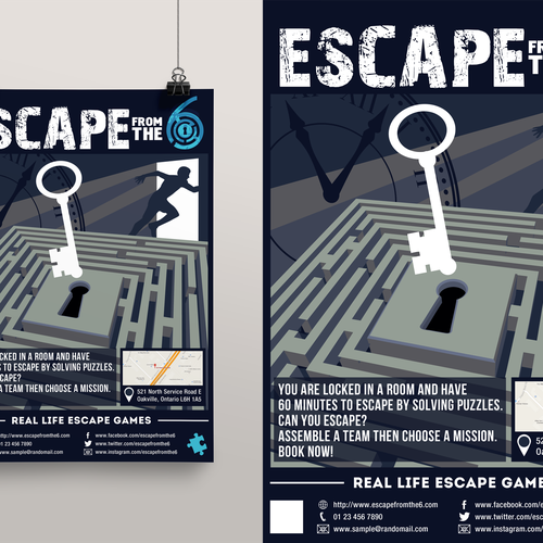 X Escape Room Flyer