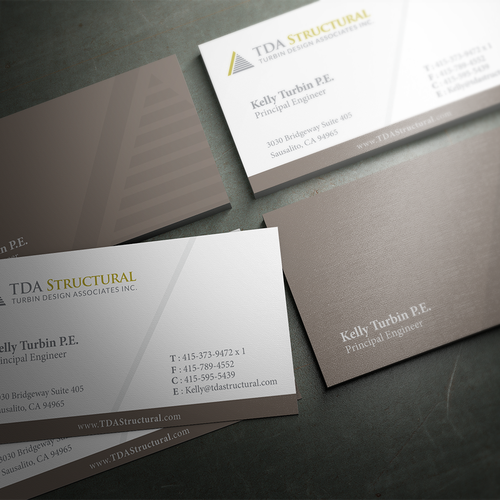 Modern professional business card for a structural engineering entries from this contest reheart Gallery