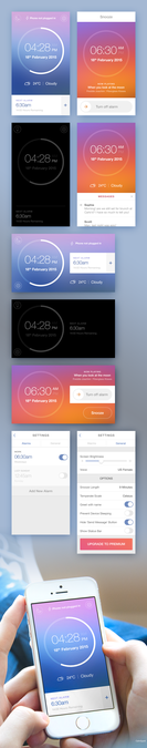 Design vincitore di CalmSpark App Design