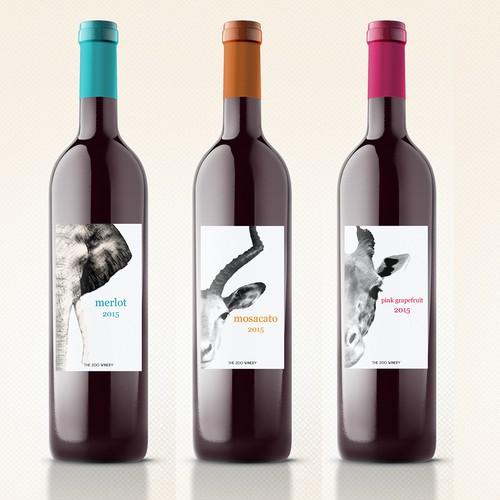 Create a Zoo Theme wine label Design by masb