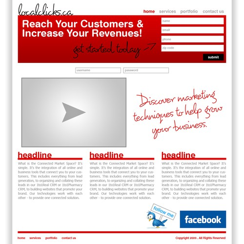 Runner-up design by ProSourceHosting