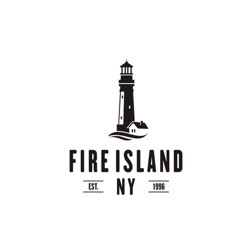 created a hip logo to represent fire island ny bohemian summer