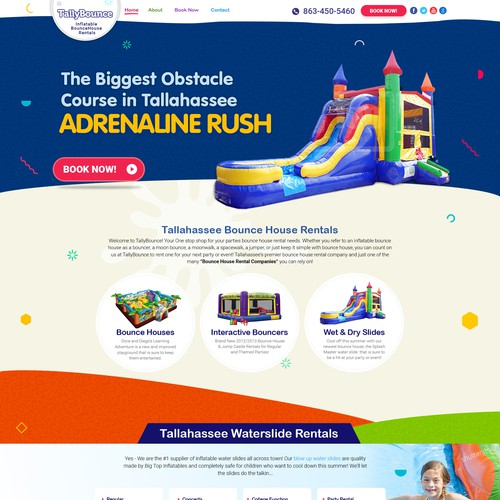 Bounce House Business Website Wordpress Theme Design Contest