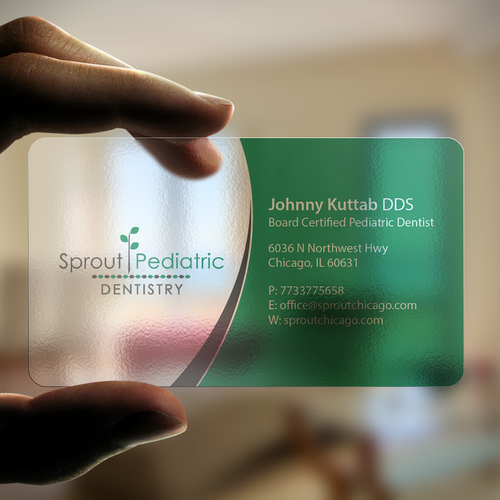 Sprout pediatric dentistry logo complete business card only runner up design by an designer colourmoves