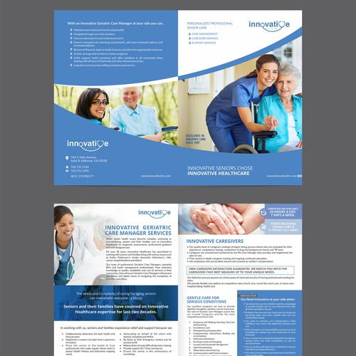 Innovative design for innovative senior care company for Innovative design company