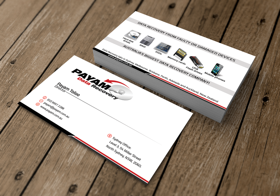 New business card for data recovery company business card contest winning design by zalkyn reheart Images