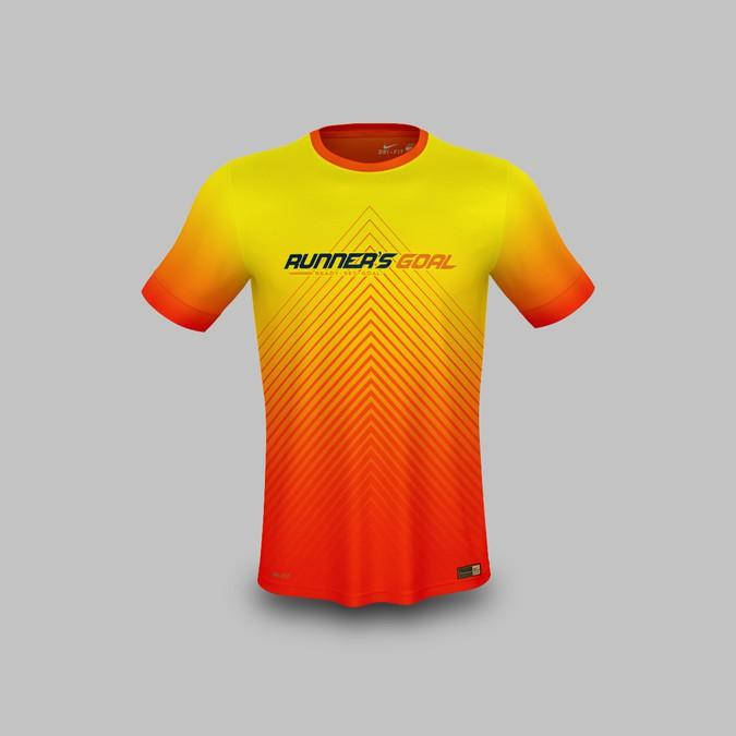 tout neuf 0af32 6b220 Tech Running TShirt Design- Runner's Goal | T-shirt contest