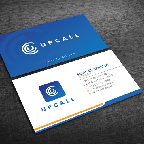 Upcall needs slick and modern business cards for conference design finalista por blackbirds reheart Image collections