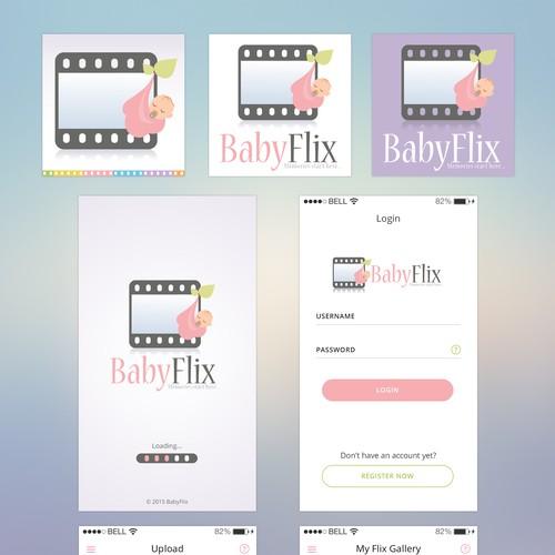 BabyFlix Mobile App Design | App design contest