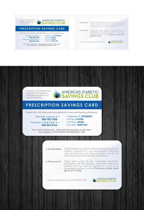card or invitation for America's Diabetic Savings Club