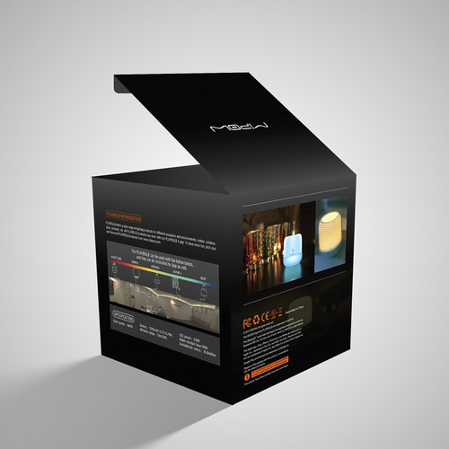 Create unique package label for smart home decor lighting for Lighting packages for new homes