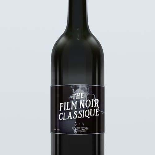 Movie Themed Wine Label - Film Noir Classique Ontwerp door kanamekura