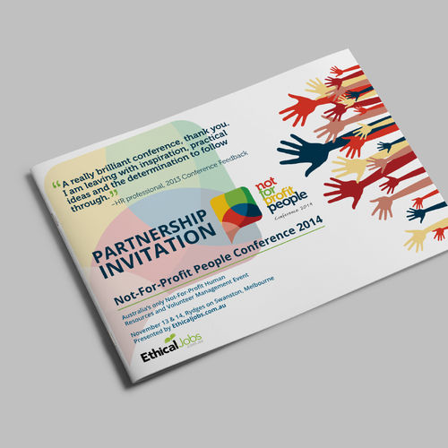 Create a new design for a conference sponsorship proposal brochure runner up design by actime stopboris Images