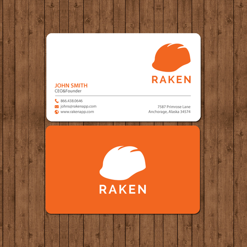 Design cool business cards for a construction app