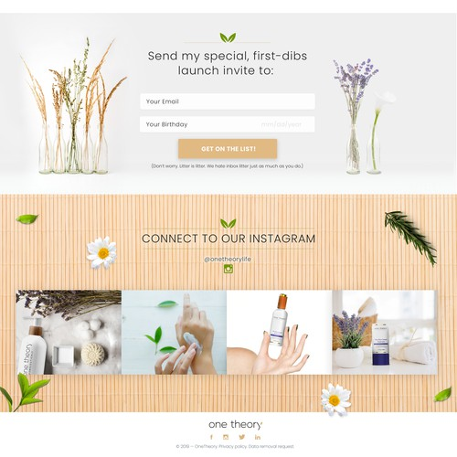 Eco Friendly Organic Skin Care Brand Needs Beautiful Website Web Page Design Contest 99designs
