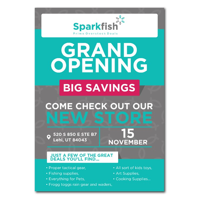 liquidation store grand opening flyer postcard flyer or print contest