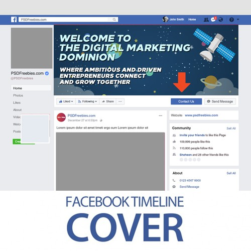 FB Group Cover for Digital Marketing | Facebook cover contest