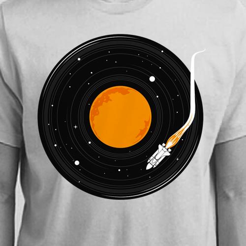 T-shirt designs for t-shirt company. Design by netralica