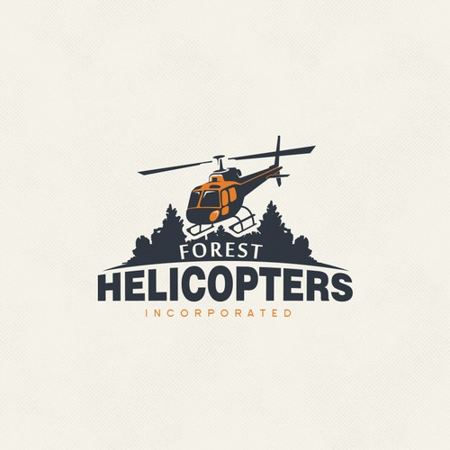 helicopter company logo for forest helicopters inc logo design
