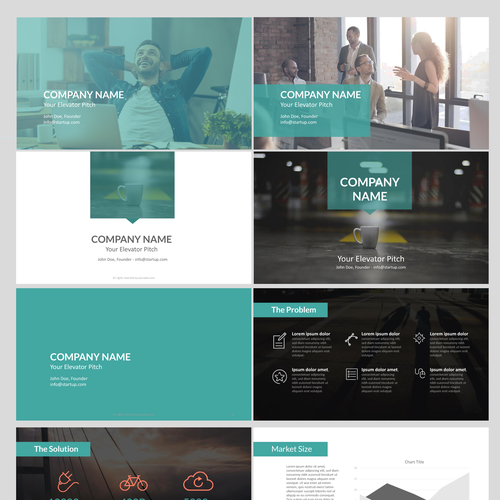 99designs Presentation Template for Startups Design by magicball