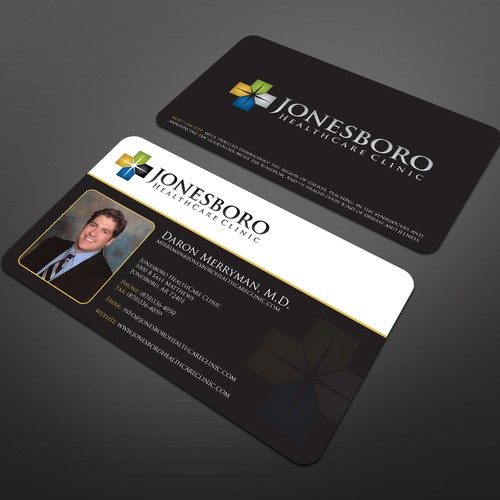 Help jonesboro healthcare clinic with a new stationery runner up design by mikkool reheart Image collections