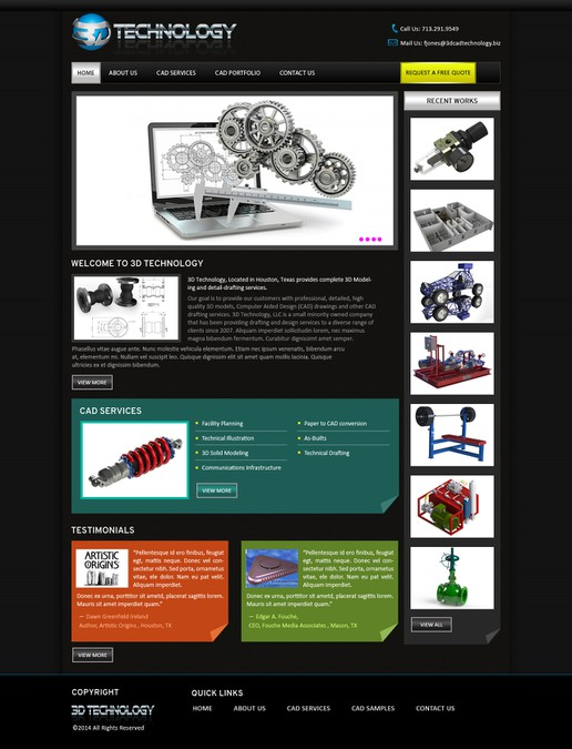 Design vencedor por Webinfi