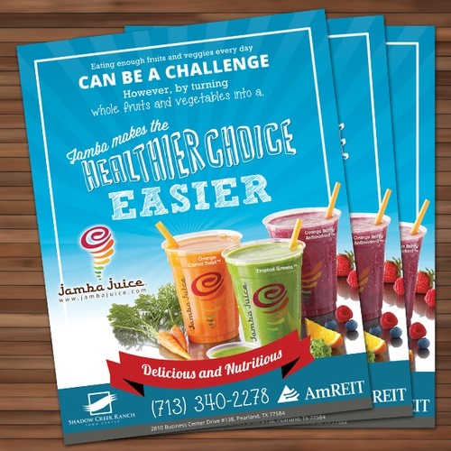 Create an ad for Jamba Juice Design by chai^o