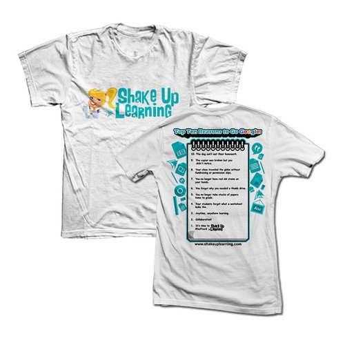 Shake up learning t shirt t shirt contest for T shirt design for education