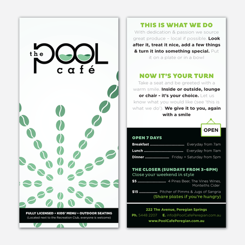 The Pool Cafe, help launch this business Diseño de SamKiarie