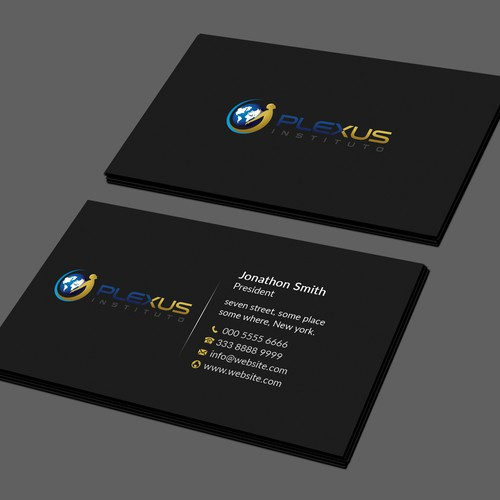 Create A Business Card And A Binder (cover Page) For A