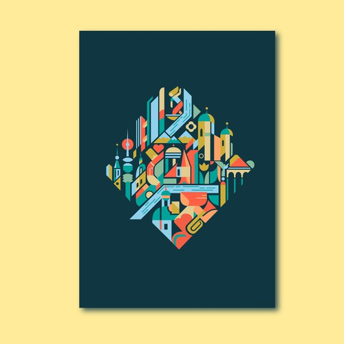 99d Community Contest: Create a poster for the beautiful city of Munich (MULTIPLE WINNERS!) Design by Trajan Jia