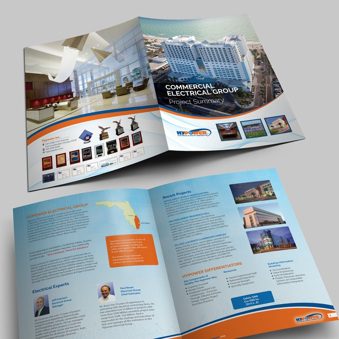 Brochure for Electrical Construction Company | Brochure contest