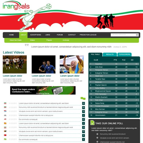 Runner-up design by Webnomica
