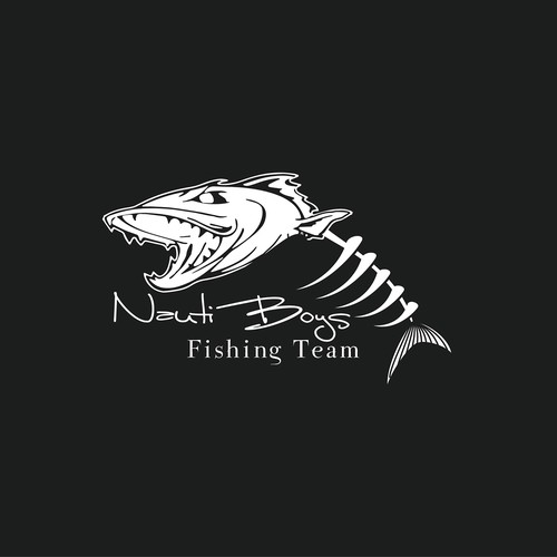 logo for competition saltwater fishing team logo design