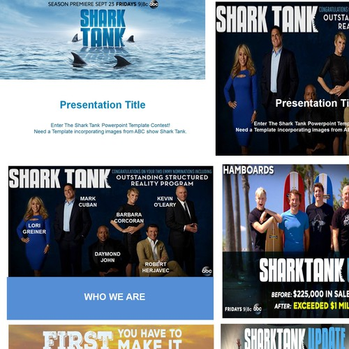 Enter The Shark Tank Powerpoint Template Contest Powerpoint