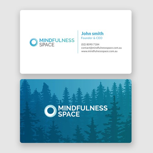 Mindfulness space business card business card contest entries from this contest colourmoves Image collections