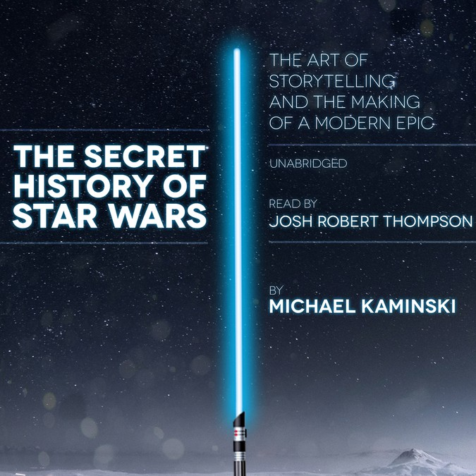 design the secret history of star wars book cover for audiobooks