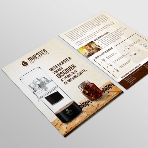 DRIPSTER Cold Drip Coffee Maker - we need a product presentation flyer Design by Coloseum27