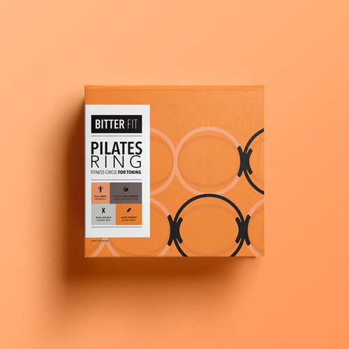 BitterFit Needs an Attention Grabbing and Perceived Value Increasing Packaging For Pilates Ring Design by katerina k.