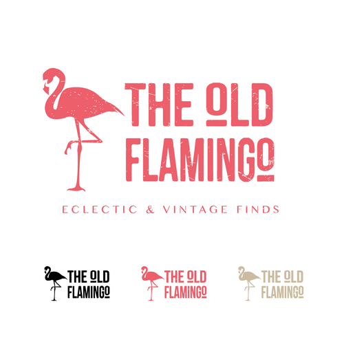 Create hip logo for THE OLD FLAMINGO that specializes in eclectic, vintage, upcycled furniture finds Design by dietros