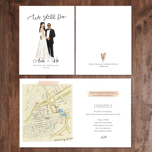 Card For 1 Year Wedding Anniversary