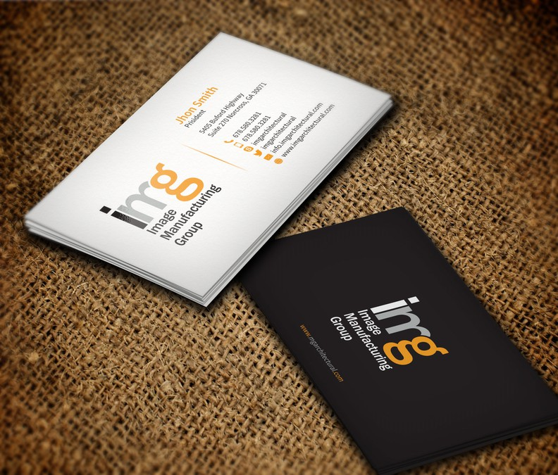 Create a fantastic new business card design for Image Manufacturing ...