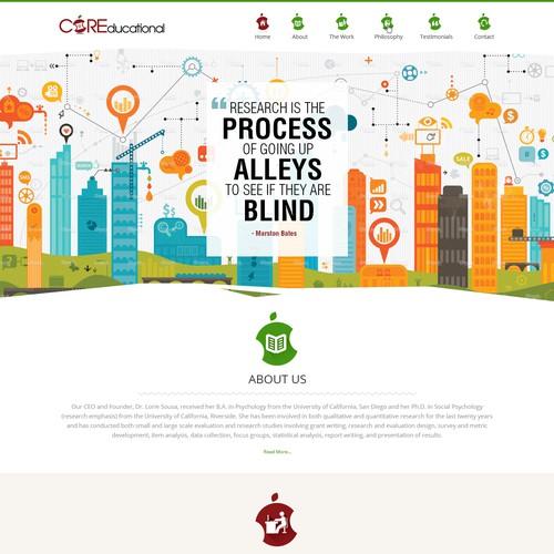 Diseño finalista de Gowebbaby.com