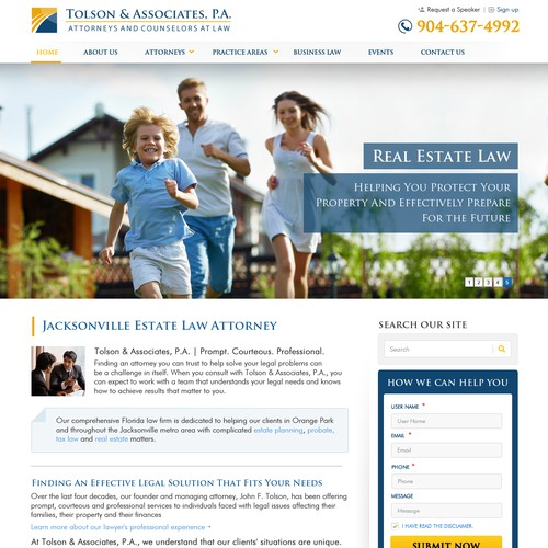 Makeover For An Elder Law And Estate Planning Law Firm Concurso Design De Site