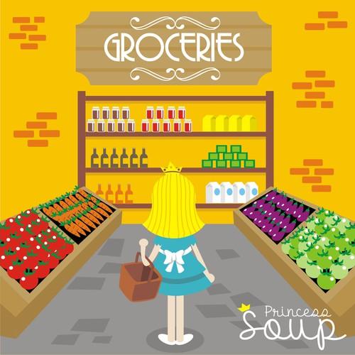 """Princess Soup"" children's book cover design Design by Warnaihari"