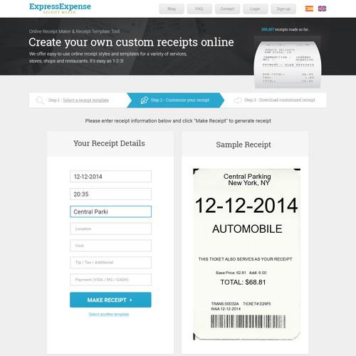 custom receipt maker seeks expert designer and conversion guru