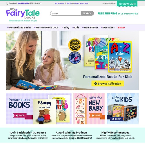 2bb129b2dc376e MyFairyTaleBooks - Homepage Hero Banner Design