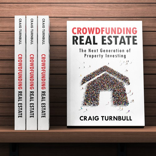 Real Estate Book Cover Design : Cutting edge bold book cover for quot crowdfunding real