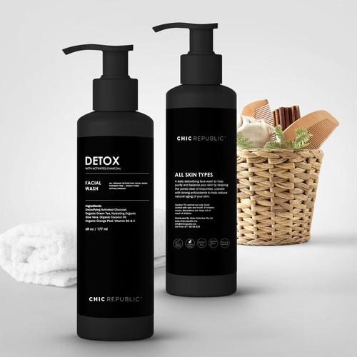 Cool Edgy Label for Face Wash Ontwerp door Localsdesign